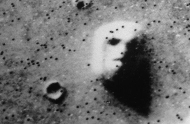 photo of face on mars is a famous example among pareidolia pictures