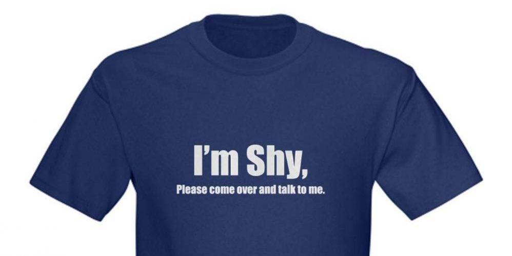 Shy men body language
